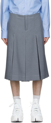 Maison Margiela Grey Gabardine Shorts