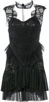 Jonathan Simkhai net insert mini dress - women - Silk/Polyester/Spandex/Elastane/Rayon - 4