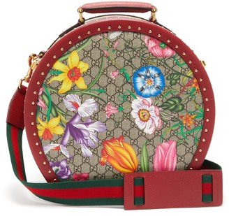 Gucci GG Flora Coated-canvas And Leather Vanity Case - Womens - Multi