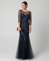 Le Château Embellished Tulle Illusion Gown