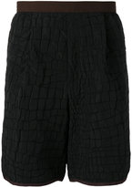Kolor crocodile embossed effect shorts - men - Polyester/Rayon - 3