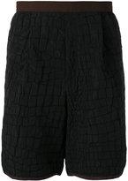 Kolor crocodile embossed effect shorts - men - Polyester/Rayon - 4