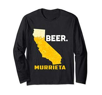 State CA California Drinking Home Love Beer Murrieta City Long Sleeve T-Shirt
