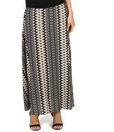 Larry Levine Women's Print Maxi Skirt