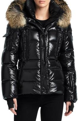 SAM. Fox Fur Trim Decade Puffer Jacket