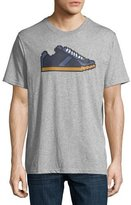Mostly Heard Rarely Seen 8-Bit Sneaker Graphic T-Shirt, Melange Heather Gray