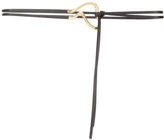 Bottega Veneta Curved Buckle Belt