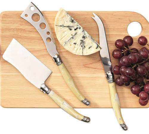 Marie Claire Laguiole Domain Cheese Knife Set of 3 Ivory