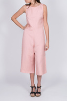 Everly Pink Linen Jumpsuit