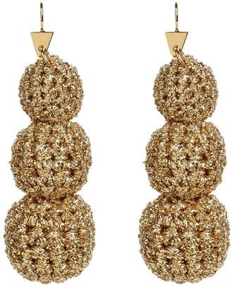 Lucy Folk Crochet Ball Drop Earrings