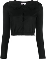 RED Valentino cropped frill collar cardigan