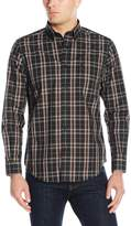 Nautica Men's Long Sleeve Wrinkle Resistant Poplin Plaid Shirt