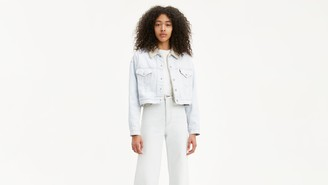 Levi's Cropped Dad Sherpa Trucker Jacket
