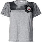 RED Valentino lace embellished T-shirt