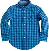 Chaps Boys 4-7 Woven Gingham Plaid Button-Down Shirt