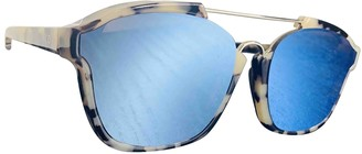 Christian Dior Abstract Blue Plastic Sunglasses