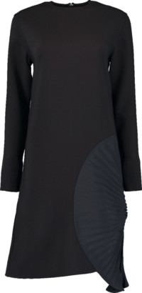 Victoria Beckham Pleated Panel Shift Dress