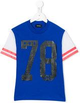 Diesel raglan varsity t-shirt - kids - Cotton - 12 yrs
