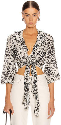 Icons Objects Of Devotion Objects of Devotion The Doherty Top in Ivory Black Floral | FWRD