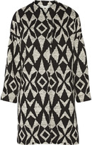 Alice + Olivia Emett printed stretch-knit cocoon coat