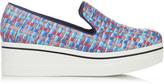 Stella McCartney Binx woven-ribbon flatform loafers