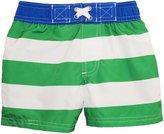 iXtreme Baby Boys' Infant Bold Stripe and Sew Swim Trunk Rashguard Short