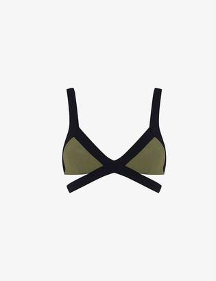 Agent Provocateur Mazzy two-tone bikini top
