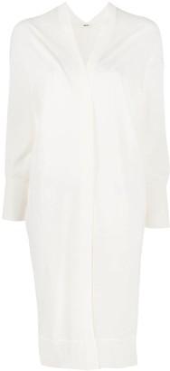 Zucca Open-Front Cotton Cardi-Coat