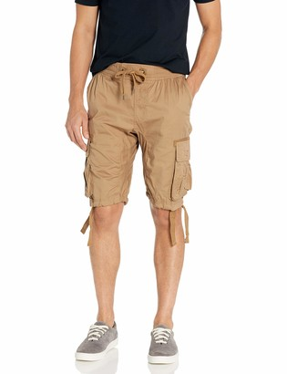 Southpole Big and Tall Men's Jogger Shorts with Cargo Pockets in Solid and Camo Colors
