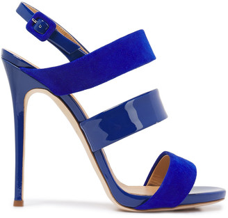 Giuseppe Zanotti Alien 115 Patent-leather And Suede Sandals