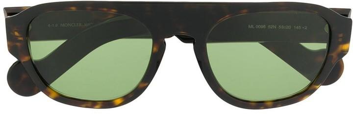 Moncler Eyewear Rectangular Shield Sunglasses
