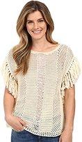 Lucky Brand Women's Nomad Fringe Sweater