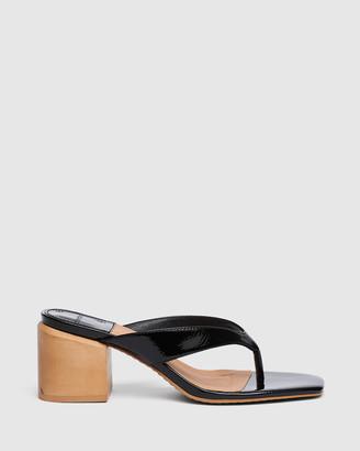 cherrichella - Women's Black Open Toe Heels - Cedar Mules - Size One Size, 38 at The Iconic