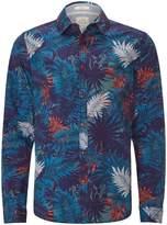 White Stuff Men's Tropical Print Long Sleeve Shirt