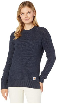 Carhartt Crew Neck Sweater (Navy Heather) Women's Sweater