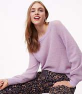LOFT Petite Ribbed Blouson Sweater