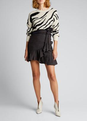 Etoile Isabel Marant Genna Zebra-Print Alpaca Sweater