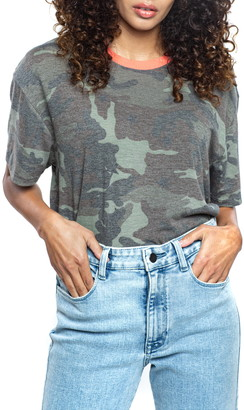 Found Denim Camo Print T-Shirt