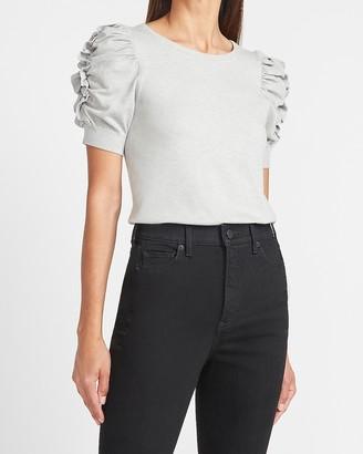 Express Short Ruffle Sleeve Sweater