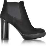 Hogan Opty Black Suede Ankle Boots