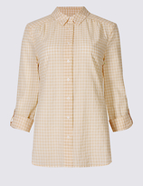Classic Pure Cotton Checked Long Sleeve Shirt