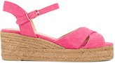 Castaner classic wedge sandals - women - Leather/Canvas/rubber - 37