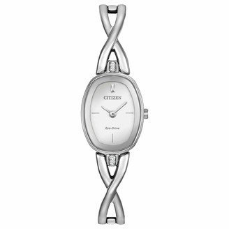 Citizen Womens Analogue Classic Solar Powered Watch with Stainless Steel Strap EX1410-53A