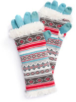 Muk Luks Fairisle 3-In-1 Knit Cold Weather Gloves