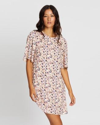 MinkPink Smudge Floral Mini Dress