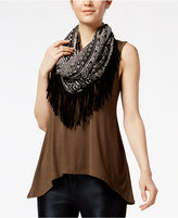 Amy Byer Juniors' High-Low Scarf Tank Top
