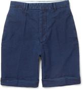 Officine Generale - Wide-leg Cotton-seersucker Shorts