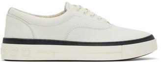 Salvatore Ferragamo White Leather Ripley Sneakers