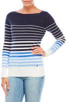 Nautica Boatneck Striped Sweater