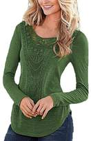 Lettre d'amour Women's Casual Loose Lace Hollow Out T Shirt S